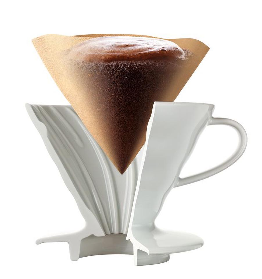 Coffee Dripper V60 02 Ceramic white