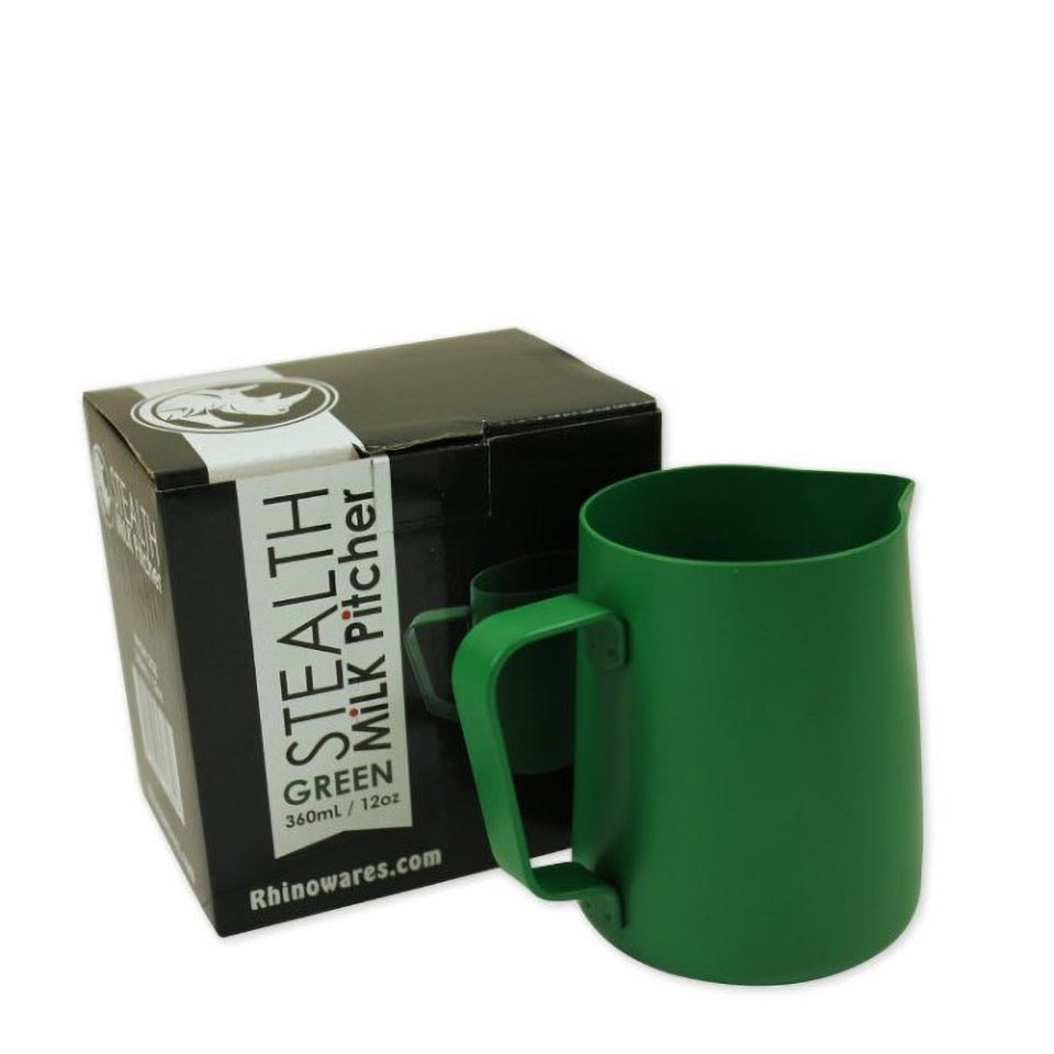 Rhino Stealth  Milk Pitcher 12oz/360ml Green