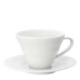 [CCS-1W] V60 Cup and Saucer, Ceramic 150ml