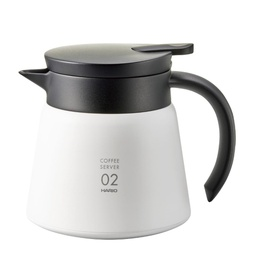 [VHS-60W] V60 Heat - Retaining Stainless Server 600 White