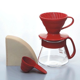 [VDS-3012R] V60 Colour Dripper & Pot Red