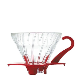 [VDG-01R] Glass Coffee Dripper V60 01 Red