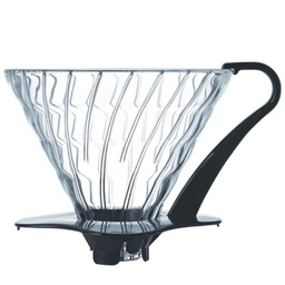 [VDG-03B] Glass Coffee Dripper V60 03 Black